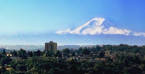 Mt Rainier greets July (credit: Elizabeth Bourne)